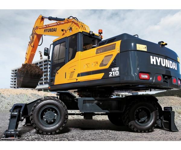 Excavator pe pneuri Hyundai HW 210