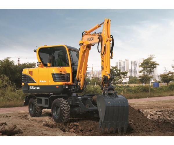 Excavator pe pneuri Hyundai R 55W-9A